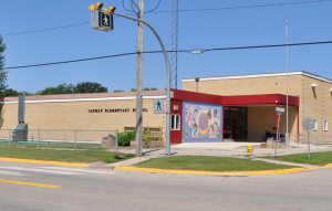 Photo of the front of the Carman Elementary School